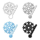 Frost icon in cartoon style isolated on white background. Weather symbol stock vector illustration. Frost icon in cartoon style isolated on white background Royalty Free Stock Photography