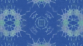 Frost kaleidoscope stock footage