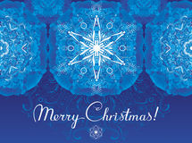 Frost modèle la carte de voeux de Noël Photographie stock libre de droits