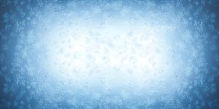 Frost-Muster auf einem Fenster Lizenzfreies Stockbild