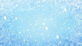 Frost na janela e na queda de neve ilustração royalty free