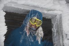 Frost och folk Arkivfoto
