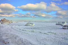 Frost in Odessa Bay royalty free stock images