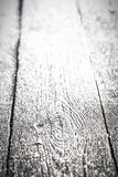 Frost on a old wooden surface. Winter morning dew and freezing. Shallow depth of field. Selective focus. Toned.  royalty free stock image