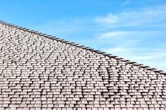 Frost på det överlappade taket Arkivfoto