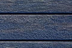 Frost på en bänk Arkivfoto