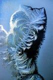 Frost på ett fönster förser med rutor Royaltyfri Bild