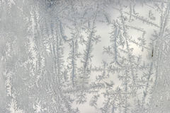 Frost pattern. On a window in wintertime Stock Photography