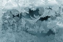 Frost pattern. As Christmas background Royalty Free Stock Image