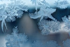 Frost pattern. As Christmas background Stock Photo