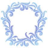 Frost Pattern frame. Frost Pattern on window frame Stock Photo