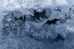 Frost pattern. As Christmas background Royalty Free Stock Photo