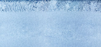 Frost pattern on a window Royalty Free Stock Images