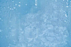 Frost pattern on the window. Frost blue pattern on the window Royalty Free Stock Image