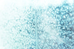 Frost pattern. On a window. Background photo Royalty Free Stock Photos