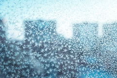 Frost pattern on a window Royalty Free Stock Photo