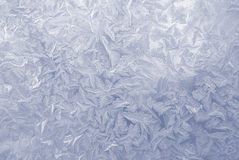 Frost pattern window snowflakes Royalty Free Stock Photo