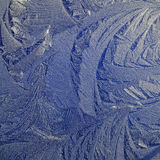 Frost patterns. Formed on a car roof Royalty Free Stock Image