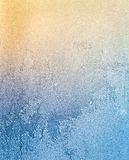 Frost Patterns On Window Fantasy Looking Royalty Free Stock Image
