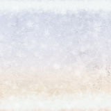 Frost patterns on window Royalty Free Stock Images