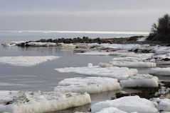 Frost sea landscape Royalty Free Stock Photography