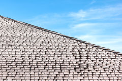 Frost on shingled roof Stock Photo