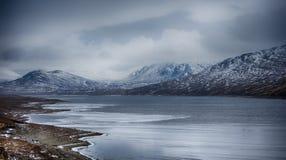 Frost sjö royaltyfri foto