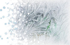 Frost and snowflakes Royalty Free Stock Images