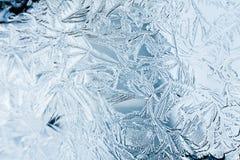Frost-struction Nahaufnahme auf einem Fenster Stockfotografie