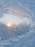 Frost and sun abstract background Royalty Free Stock Photography