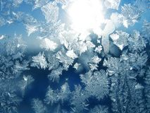 Frost and sun pattern Stock Photography