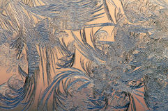 Frost sur la fenêtre dessine Images libres de droits