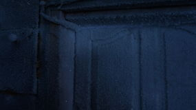 Frost sur la porte Photographie stock