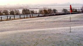 Frost sur le terrain de golf Images libres de droits