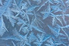 Frost sur un carreau de fenêtre photo libre de droits