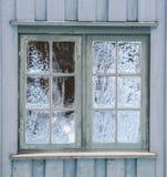 Frost sur une fenêtre de vintage ressemblant à l'art photo stock