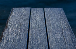 Frost on a table Royalty Free Stock Photo