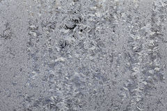 Frost at transparent surface Royalty Free Stock Images