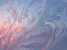 Frost und Sonne Stockfoto