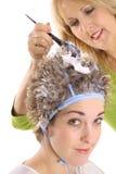 frost włosy styliście żeby ich klientów obraz royalty free