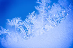 Frost on window. Winter frost in close up on a window Royalty Free Stock Image