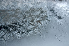 Frost on window Royalty Free Stock Image
