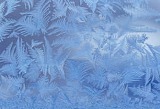 Frost on window Royalty Free Stock Photo