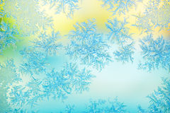 Frost on window glass Royalty Free Stock Photos