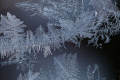 Frost on window Royalty Free Stock Images