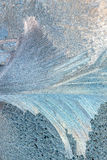 Frost on window pane in winter Royalty Free Stock Images