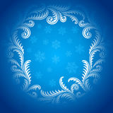 Frost on window Pattern frame. 2 Stock Photography