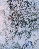 Frost on Window Winter Background Texture Royalty Free Stock Photo
