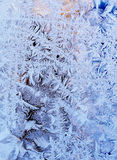 Frost on windowpane Royalty Free Stock Images