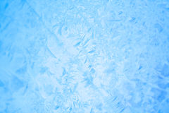 Frost on windowpane Royalty Free Stock Photography